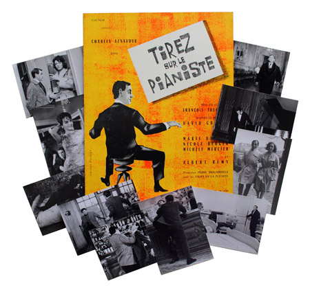 TIREZ SUR LE PIANISTE (SHOOT THE PIANO PLAYER) - ORIGINAL FRENCH PRESSBOOK. David Goodis, François Truffaut, novel, director.