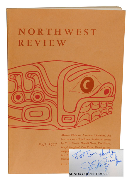 NORTHWEST REVIEW - VOL. 1, NO. 2 - INSCRIBED BY KEN KESEY. Robert Paul, Ken Kesey, contributor.