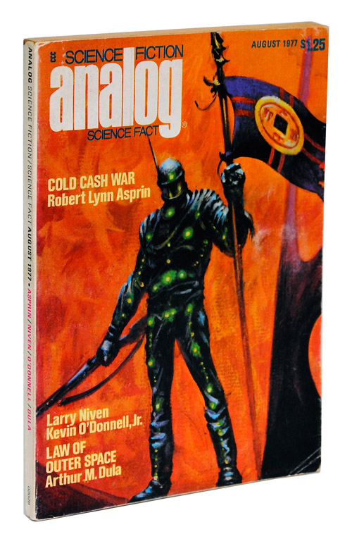 ANALOG SCIENCE FICTION (AUGUST 1977) - FIRST APPEARANCE OF ENDER'S GAME. Orson Scott Card, Kelly Freas, story, cover art.
