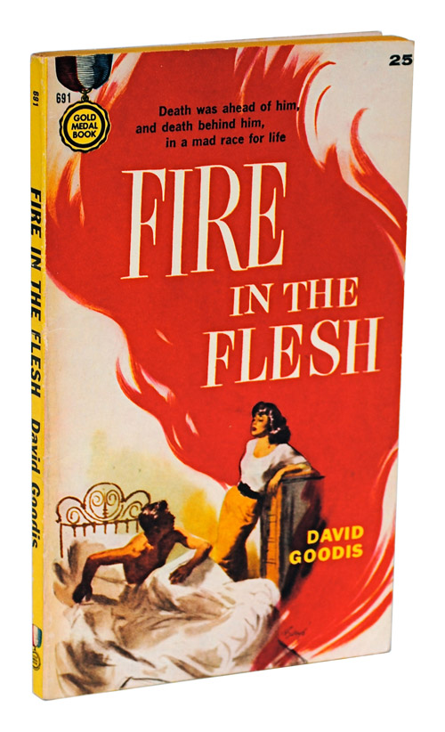 FIRE IN THE FLESH. David Goodis, Barye Phillips, novel, cover art.