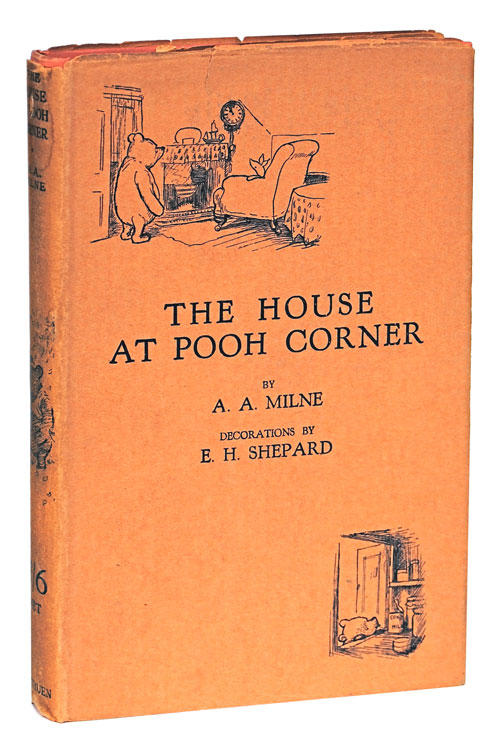 THE HOUSE AT POOH CORNER. A. A. Milne, E. H. Shepard, novel, illustration.