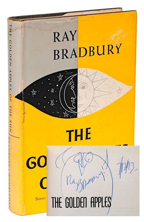 THE GOLDEN APPLES OF THE SUN - SIGNED, WITH AN ORIGINAL DRAWING. Ray Bradbury, Joseph Mugnaini, stories, illustrations.