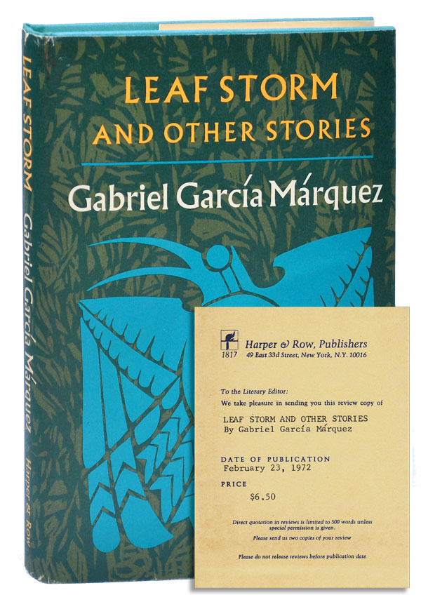 LEAF STORM AND OTHER STORIES - REVIEW COPY. Gabriel García Márquez, Gregory Rabassa, stories, translation.