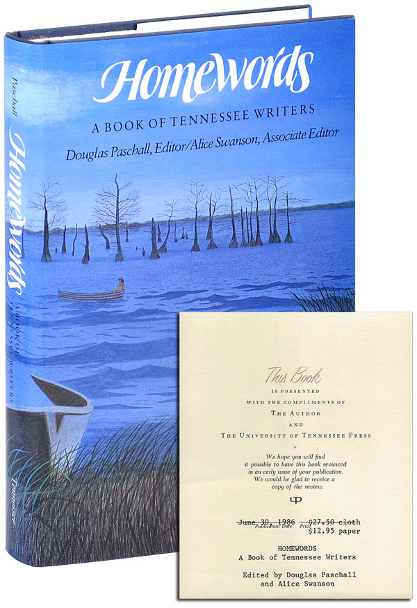 HOMEWORDS: A BOOK OF TENNESSEE WRITERS - REVIEW COPY, WITH AN EXCERPT FROM 'BLOOD MERIDIAN'. Douglas Paschall, Cormac McCarthy, contributor.