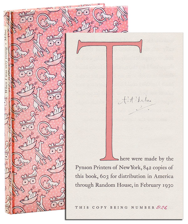 WHEN I WAS VERY YOUNG - LIMITED EDITION, SIGNED. A. A. Milne, Ernest Shepard, text, illustrations.
