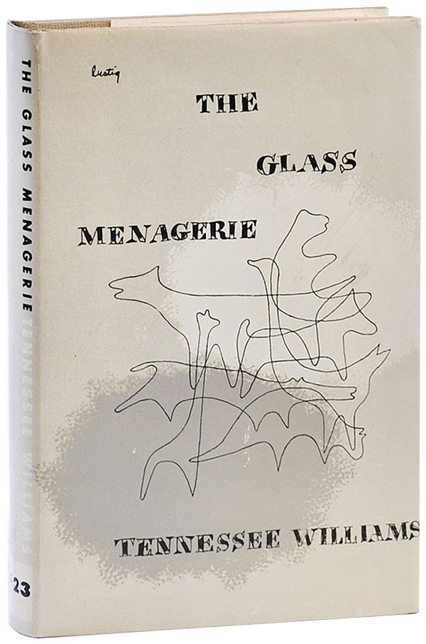 THE GLASS MENAGERIE: A PLAY. Tennessee Williams, Alvin Lustig, play, jacket design.