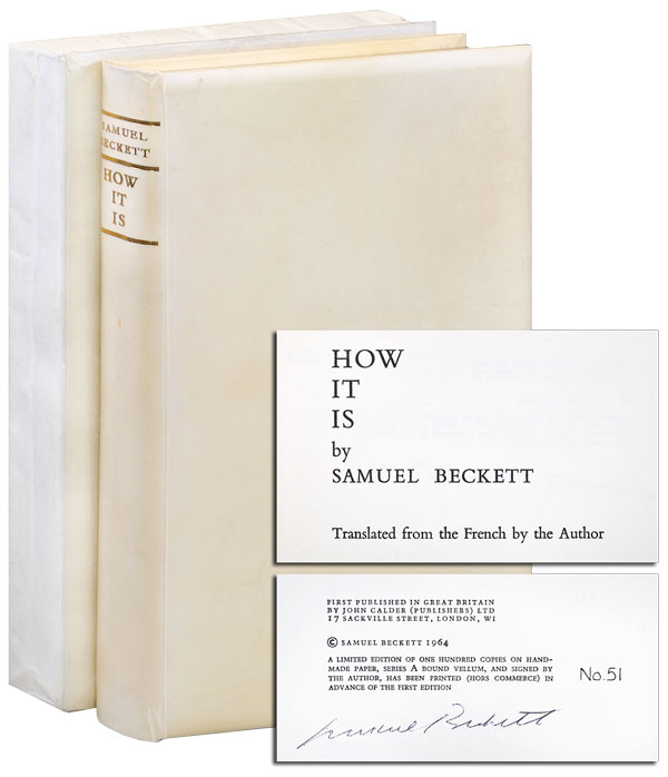 HOW IT IS - LIMITED EDITION, SIGNED. Samuel Beckett.