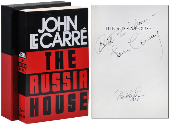 THE RUSSIA HOUSE - SIGNED BY JOHN LE CARRÉ, SEAN CONNERY, AND MICHELLE PFEIFFER. John Le Carré.