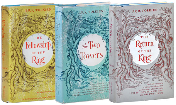 THE LORD OF THE RINGS: THE FELLOWSHIP OF THE RING; THE TWO TOWERS; THE RETURN OF THE KING. J. R. R. Tolkien.