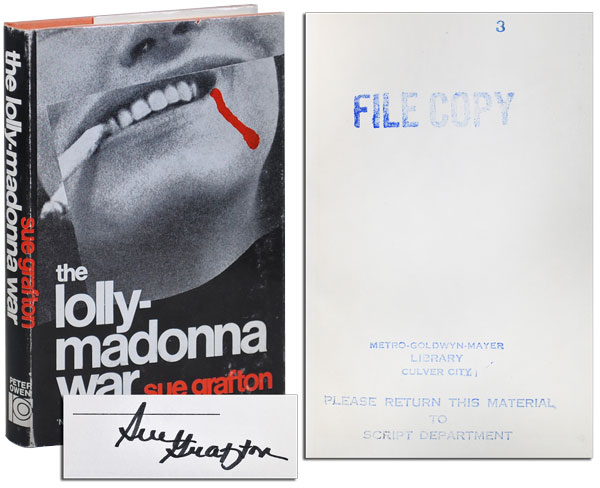 THE LOLLY-MADONNA WAR - M.G.M. FILE COPY, SIGNED