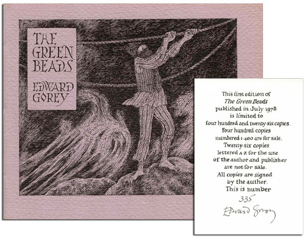 THE GREEN BEADS - LIMITED EDITION, SIGNED. Edward Gorey.