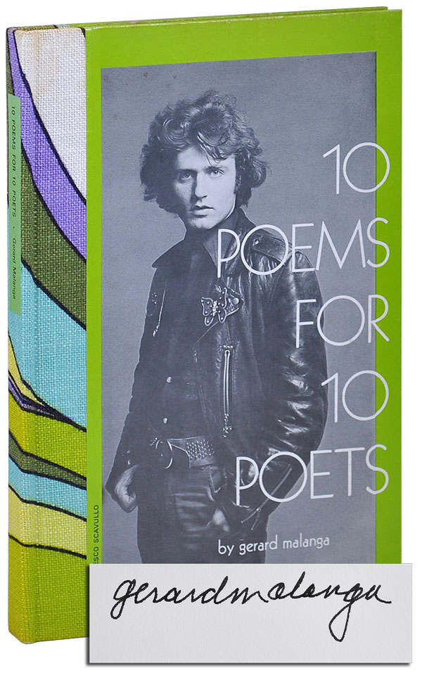 10 POEMS FOR 10 POETS - LIMITED EDITION, SIGNED. Gerard Malanga.