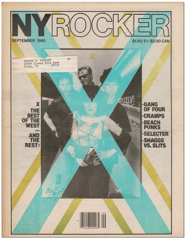 NEW YORK ROCKER - SEPTEMBER, 1980. S. Andrew Schwartz.