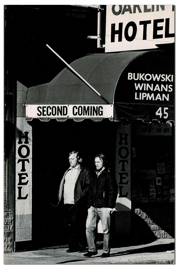 """SECOND COMING - VOL.5, NO.1 [TOGETHER WITH] CORRECTED TYPESCRIPTS FOR """"CARROT"""", """"POET AND POETESS"""", AND """"THROUGH AND THROUGH"""" Charles Bukowski, A. D. Winans, Ed """"Foot"""" Lipman, contributors."""