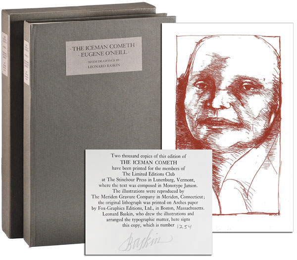 THE ICEMAN COMETH: A PLAY - LIMITED EDITION, SIGNED. Eugene O'Neill, Leonard Baskin, play, illustrations.