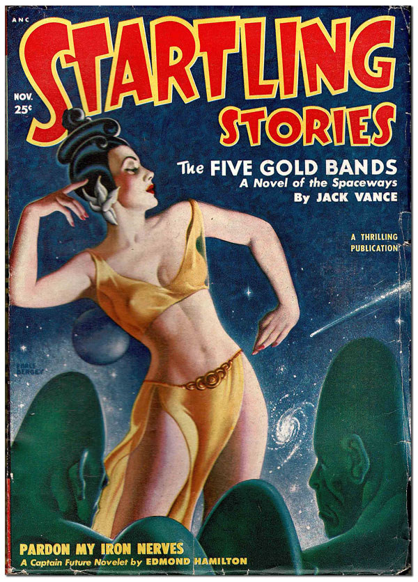 STARTLING STORIES - VOL.22, NO.2 (NOVEMBER, 1950). Earle Bergey, cover art.