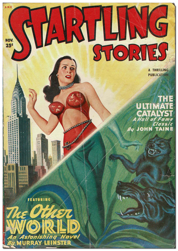 STARTLING STORIES - VOL.20, NO.2 (NOVEMBER, 1949). Jack Vance, Clifford Simak, Murray Leinster, contributors.