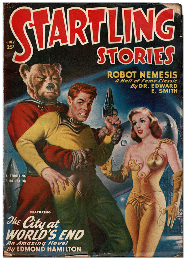 STARTLING STORIES - VOL.21, NO.3 (JULY, 1950). Earle Bergey, cover art.