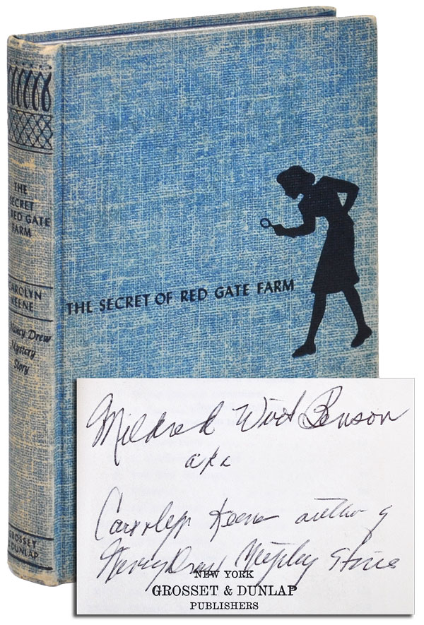 THE SECRET OF RED GATE FARM - INSCRIBED. Carolyn Keene, pseud. of Mildred Wirt Benson.