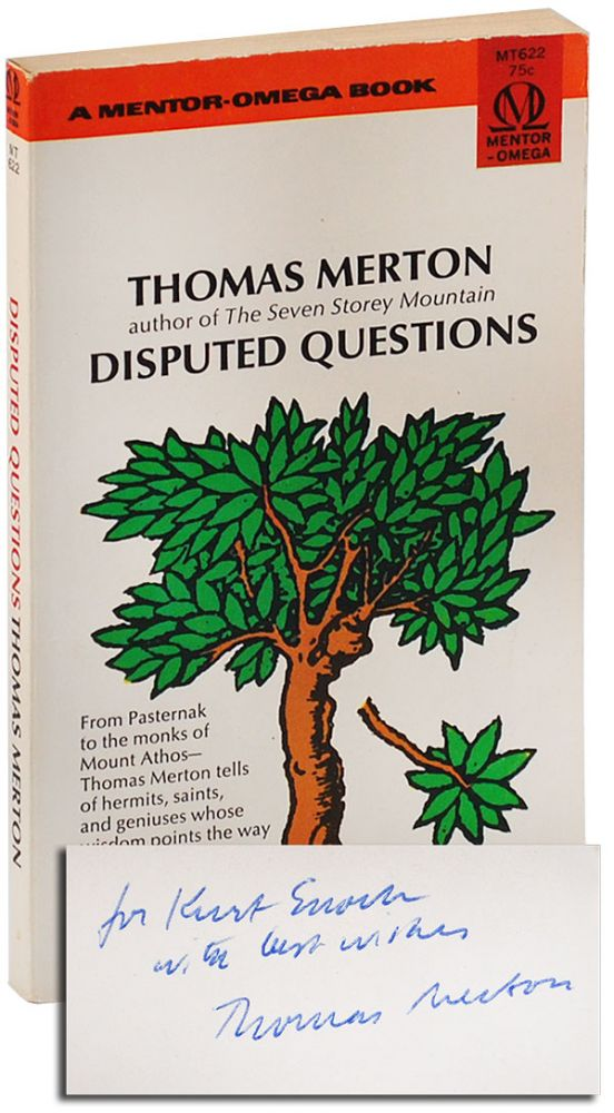 DISPUTED QUESTIONS - INSCRIBED TO KURT ENOCH. Thomas Merton.