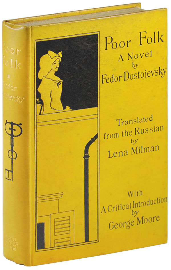 POOR FOLK: A NOVEL. Fedor Dostoievsky, Aubrey Beardsley, novel, cover.