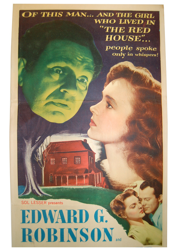 THE RED HOUSE - ORIGINAL INSERT FILM POSTER. George Agnew Chamberlain, Delmer Daves, novel, director.