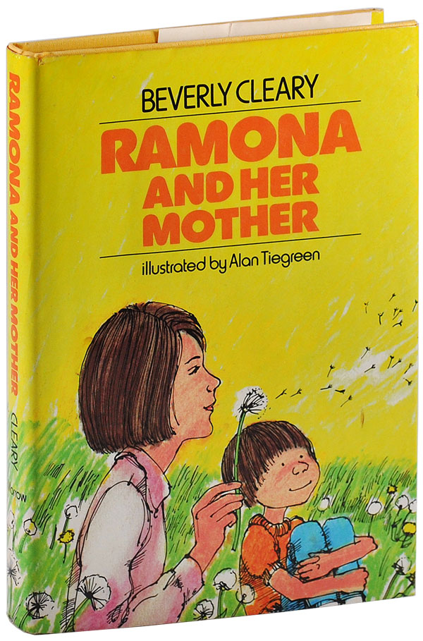 RAMONA AND HER MOTHER. Beverly Cleary, Alan Tiegreen, novel, illustrations.