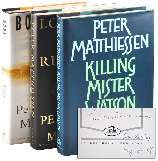 THE WATSON TRILOGY: KILLING MISTER WATSON, LOST MAN'S RIVER, AND BONE BY BONE - SIGNED. Peter Matthiessen.