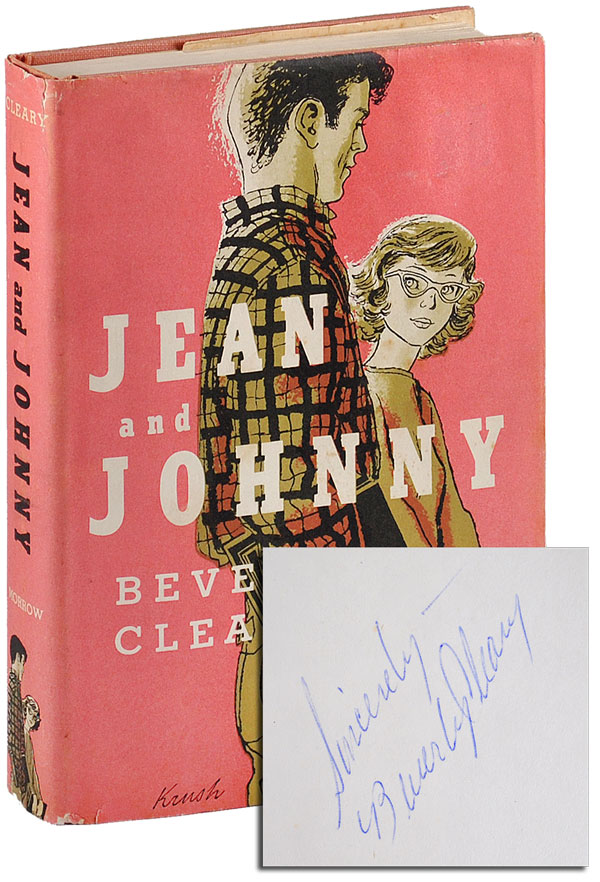 JEAN AND JOHNNY - INSCRIBED. Beverly Cleary, Joe Krush, Beth, novel, illustrations.