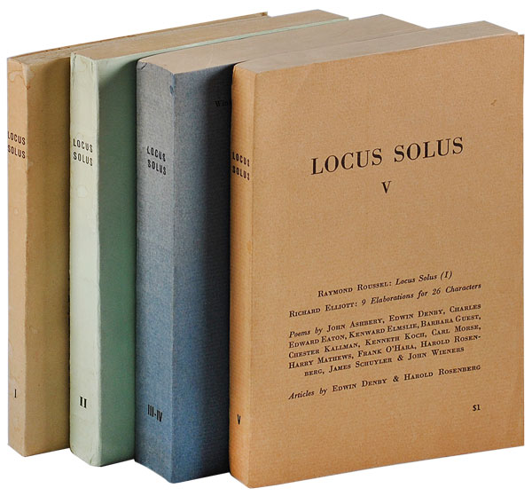 LOCUS SOLUS I-V [COMPLETE RUN]. John Ashbery, Harry Mathews, Kenneth Koch, James Schuyler.