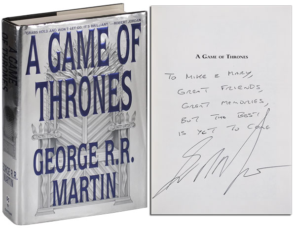 A SONG OF ICE AND FIRE: A GAME OF THRONES, A CLASH OF KINGS, A STORM OF SWORDS, A FEAST FOR CROWS, A DANCE WITH DRAGONS - INSCRIBED ASSOCIATION COPIES. George R. R. Martin.