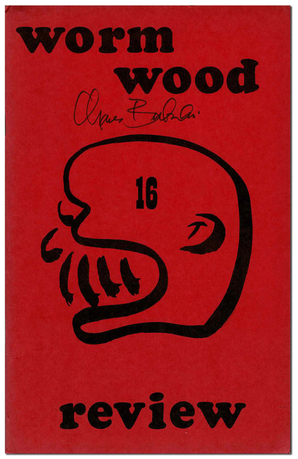 THE WORMWOOD REVIEW - RUN OF 101 ISSUES. Marvin Malone, Charles Bukowski, contributor.