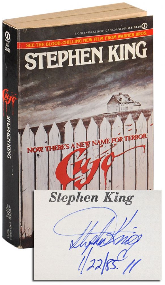 CUJO - SIGNED. Stephen King.