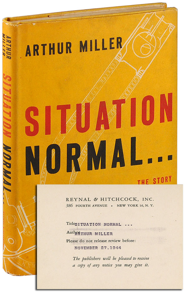 SITUATION NORMAL - REVIEW COPY. Arthur Miller.