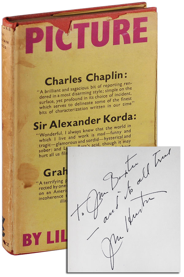 PICTURE - INSCRIBED BY JOHN HUSTON. Lillian Ross.