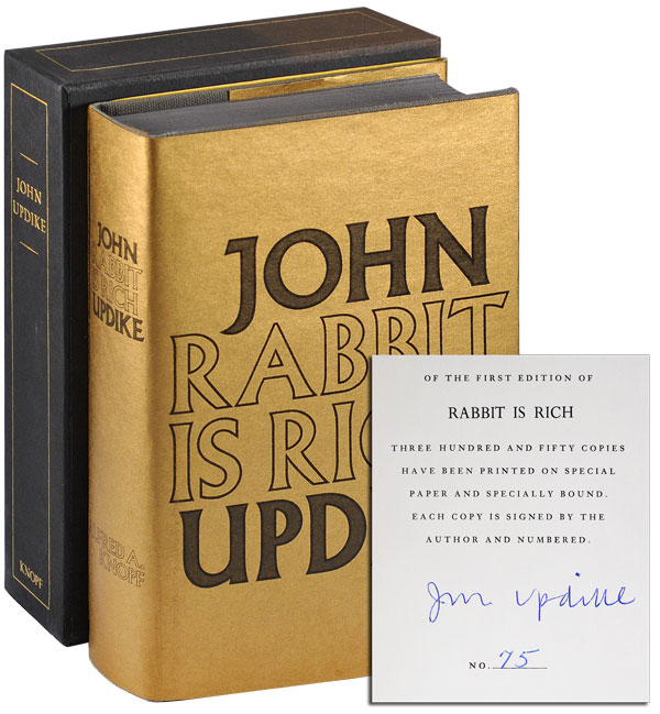 RABBIT IS RICH - LIMITED EDITION, SIGNED. John Updike.