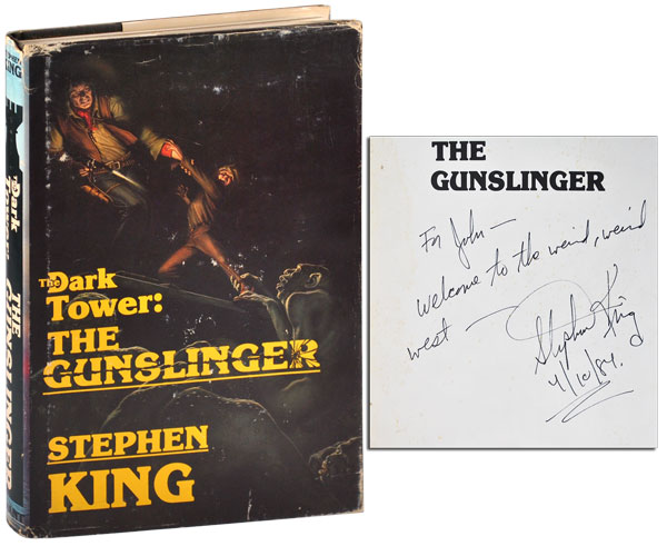 THE DARK TOWER: THE GUNSLINGER - INSCRIBED TO JOHN D. MACDONALD. Stephen King, Michael Whelan, novel, illustrations.