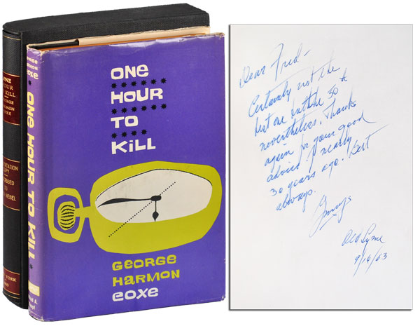 ONE HOUR TO KILL - INSCRIBED TO FREDERICK NEBEL