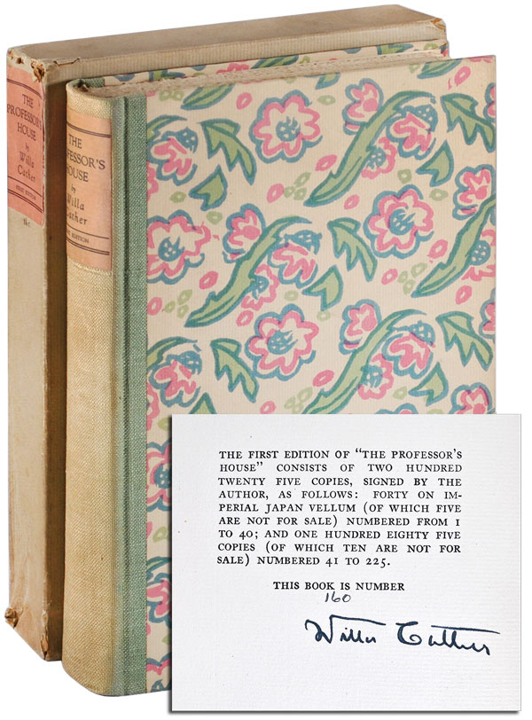 THE PROFESSOR'S HOUSE - LIMITED EDITION, SIGNED. Willa Cather.