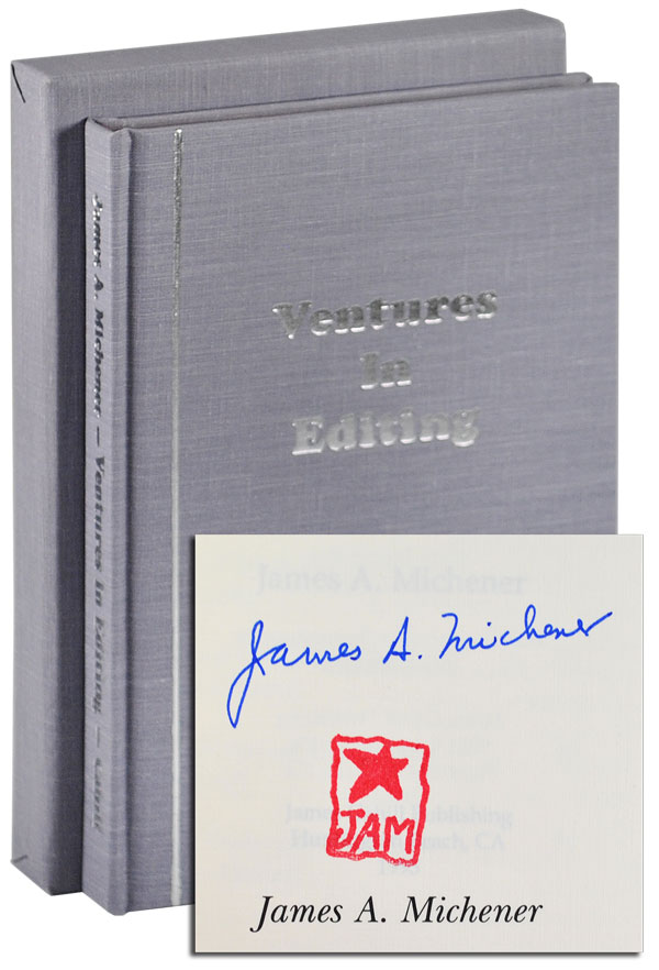 VENTURES IN EDITING - LIMITED EDITION, SIGNED. James A. Michener.