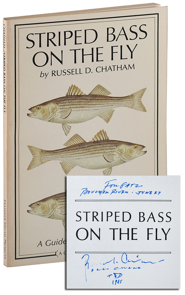STRIPED BASS: A GUIDE TO CALIFORNIA WATERS - INSCRIBED TO WILLIAM HJORTSBERG. Russell Chatham.
