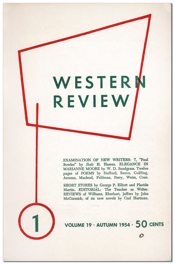 WESTERN REVIEW - VOL.19, NO.1 (AUTUMN, 1954). Ray B. West Jr.