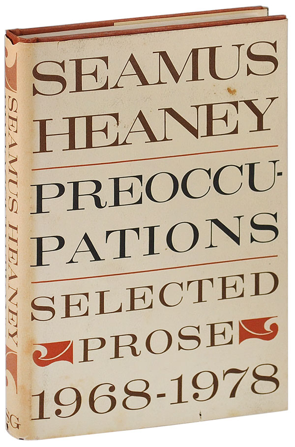 PREOCCUPATIONS: SELECTED PROSE 1968-1978 - REVIEW COPY. Seamus Heaney.