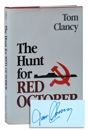 THE HUNT FOR RED OCTOBER - WITH SIGNED BOOKPLATE LAID IN. Tom Clancy
