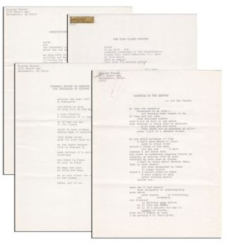 FOUR ORIGINAL TYPESCRIPT POEMS, WITH A ONE-PAGE ALS TO GAIL CHIARRELLO