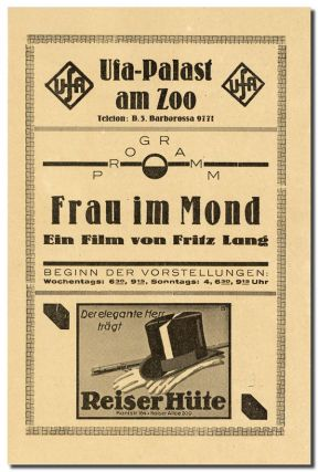 FRAU IM MOND (THE WOMAN IN THE MOON) - ORIGINAL FILM PROGRAM AND HERALD
