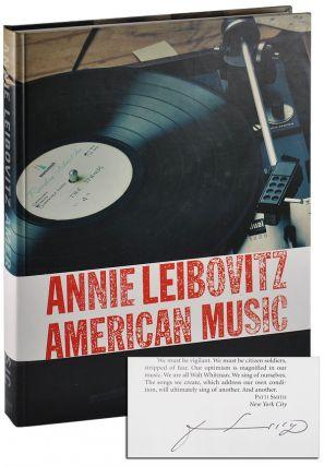 AMERICAN MUSIC - SIGNED BY CONTRIBUTOR PATTI SMITH. Annie Leibovitz, Patti Smith, photographs, essay