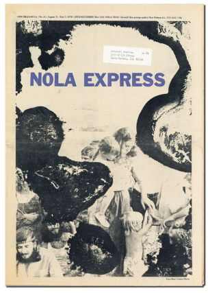 NOLA EXPRESS - NO.62 (AUGUST 21-SEPT.3, 1970). Charles Bukowski, William S. Burroughs, contributors