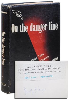 ON THE DANGER LINE - REVIEW COPY, SIGNED BY DOROTHY HUGHES. Georges Simenon, Stuart Gilbert,...