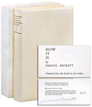 HOW IT IS - LIMITED EDITION, SIGNED. Samuel Beckett